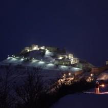 Ciaspolata notturna (serale) intorno a Castelluccio tra boschi e scorci favolosi
