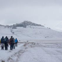 L'escursione di ieri sotto una mega nevicata!