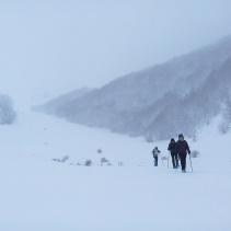 La ciaspolata di ieri 25 Gennaio sotto la nevicata