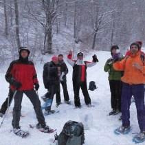 Sabato sera un'altra emozionante avventura Sibillina sotto una fitta nevicata