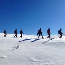 La traversata in ciaspole sui colli del Grande altipiano Sibillino