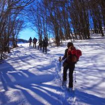 Ciaspolata nel Parco Regionale umbro del Monte Cucco