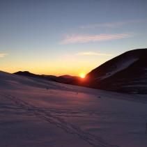 Ciaspolata verso il tramonto più bello ed uno dei paradisi sibillini