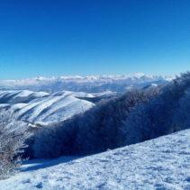La meravigliosa ciaspolata di ieri (22.1.17) sul monte Serano