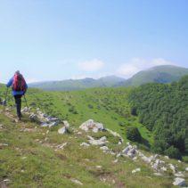 Monte Macchia Alta: il crinale tra Laga e il Pian Piccolo di Castelluccio